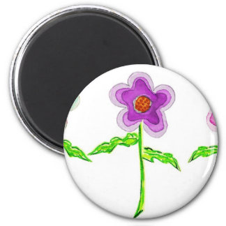 Colorful Flowers Fridge Magnets