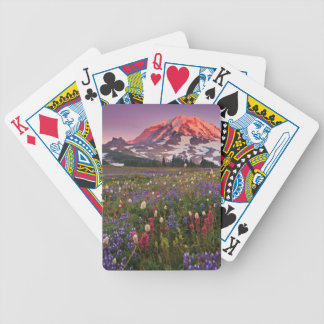 Colorful Flowers in Rainier National Park Bicycle Playing Cards