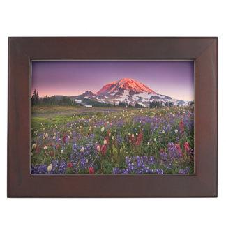 Colorful Flowers in Rainier National Park Keepsake Box