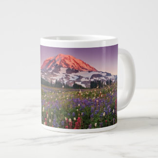 Colorful Flowers in Rainier National Park Large Coffee Mug