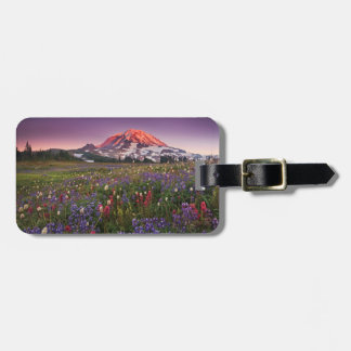 Colorful Flowers in Rainier National Park Luggage Tag
