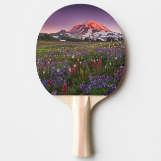 Colorful Flowers in Rainier National Park Ping Pong Paddle