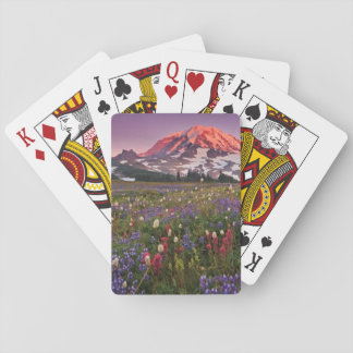 Colorful Flowers in Rainier National Park Playing Cards