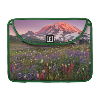 Colorful Flowers in Rainier National Park Sleeve For MacBook Pro