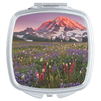 Colorful Flowers in Rainier National Park Vanity Mirror