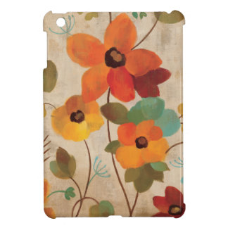 Colorful Flowers on an Off White Background iPad Mini Cases