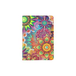 Colorful Flowers Passport Holder