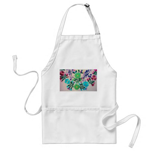 Colorful Flowers Pattern Apron