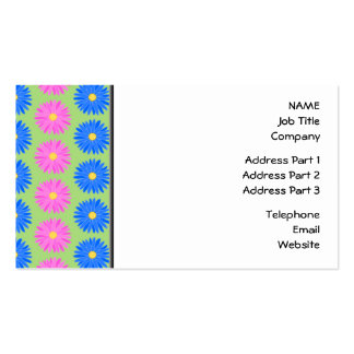 Colorful Flowers Pattern. Pack Of Standard Business Cards