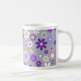 Colorful flowers pattern design coffee mug