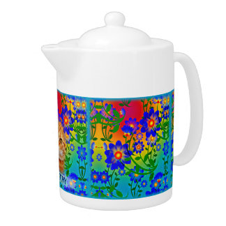 Colorful Flowers Pattern - Green, Blue, Yellow,