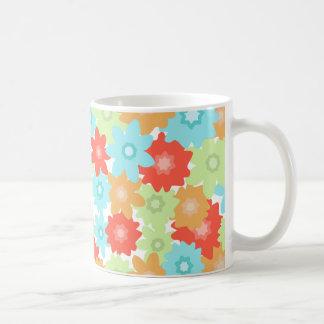 Colorful flowers pattern mug