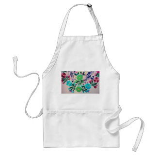 Colorful Flowers Pattern Standard Apron