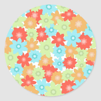 Colorful flowers pattern stickers