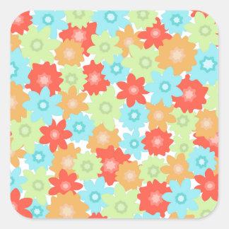 Colorful flowers pattern sticker