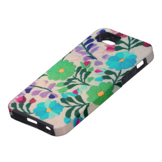 Colorful Flowers Pattern Tough iPhone 5 Case