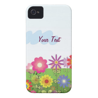 Colorful Flowers - Personalize iPhone 4 Case