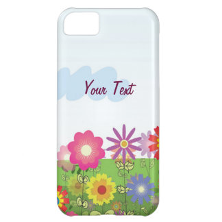 Colorful Flowers - Personalize iPhone 5C Case