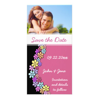 """Colorful Flowers/photo  """"Save the Date"""" Photo Cards"""