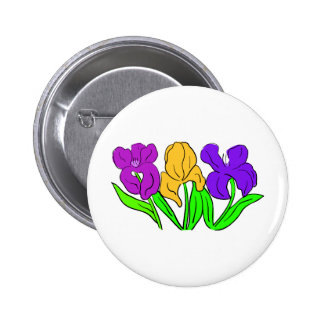 Colorful Flowers Pin