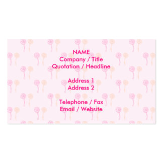 Colorful flowers. Pink and Orange Pattern. Pack Of Standard Business Cards