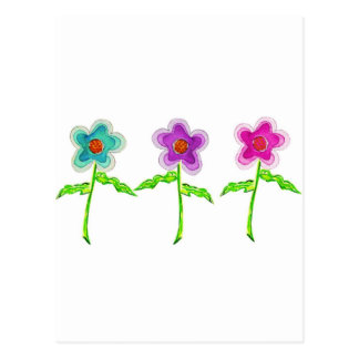 Colorful Flowers Post Cards