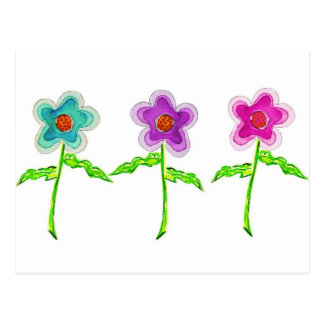 Colorful Flowers Postcard