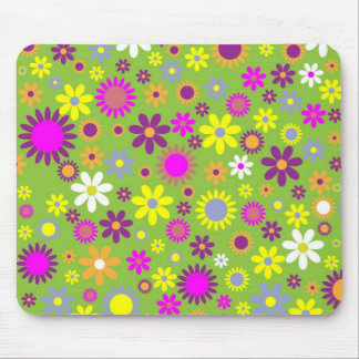 Colorful flowers seamless pattern mouse mat