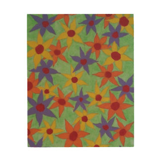 Colorful flowers to brighten up a room wood print