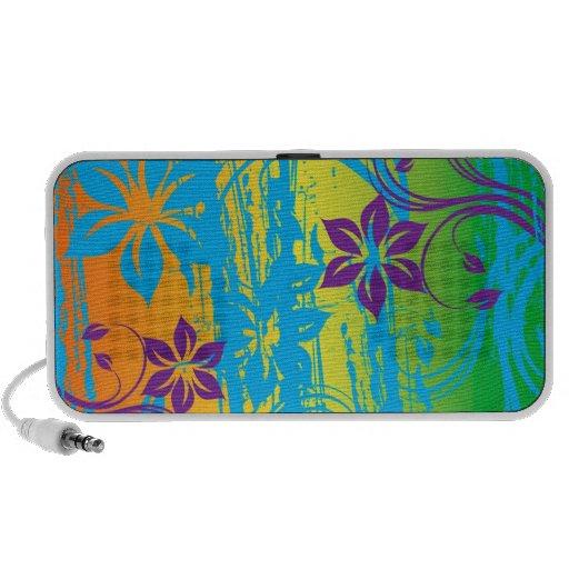 colorful flowers vector art mp3 speaker