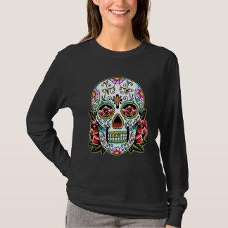Colorful Flowery Skull Tattoo Art T-Shirt