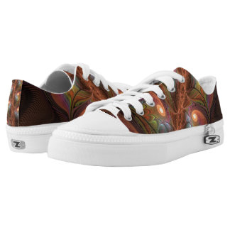 Colorful Fluorescent Abstract Modern Brown Fractal Low Tops