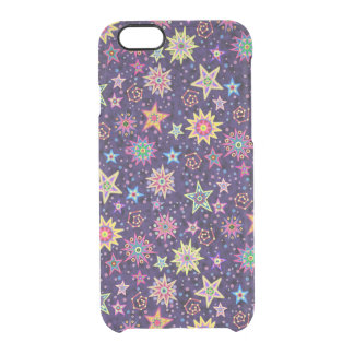 Colorful Folk Art Starry Sky Clear iPhone 6/6S Case