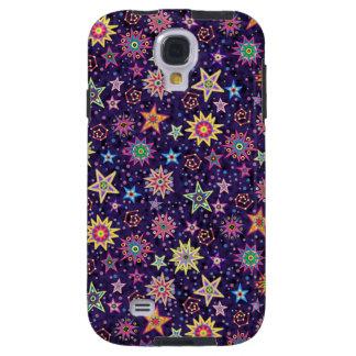 Colorful Folk Art Starry Sky Galaxy S4 Case
