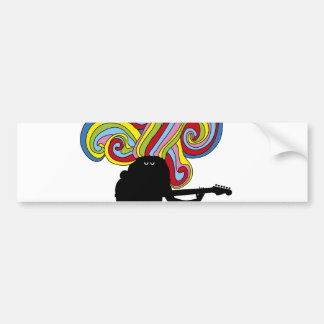 Colorful folksinger bumper stickers