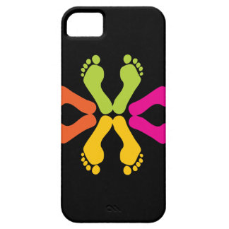 Colorful Foot Prints iPhone 5 Covers