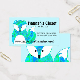 Colorful Fox Business Card