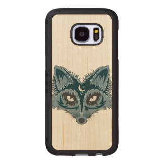 Colorful Fox Illustration Wood Samsung Galaxy S7 Case