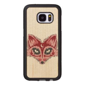 Colorful Fox Illustration Wood Samsung Galaxy S7 Case