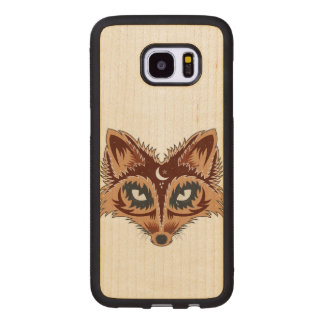 Colorful Fox Illustration Wood Samsung Galaxy S7 Edge Case