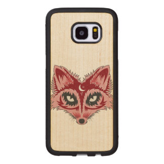 Colorful Fox Illustration Wood Samsung Galaxy S7 Edge Case