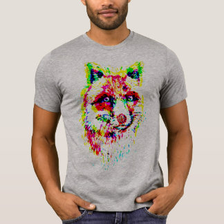 colorful fox  t-shirt design celebrate wild-life