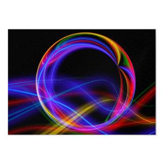 Colorful fractal ball 13 cm x 18 cm invitation card