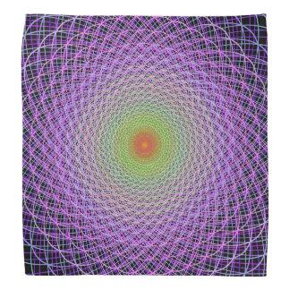 Colorful fractal bandana