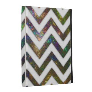 Colorful Fractal Chevron iPad Cases