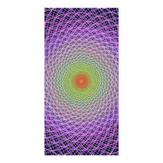 Colorful fractal customized photo card