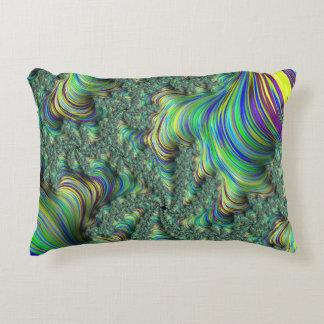 Colorful Fractal Decorative Cushion