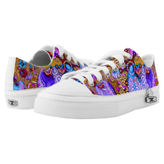 Colorful Fractal Hodgepodge Low Tops