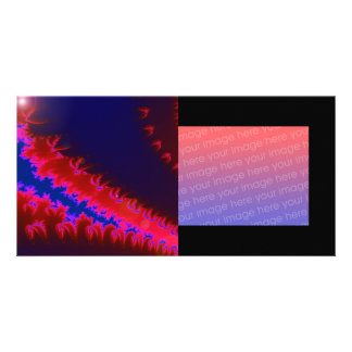 Colorful fractal photo card template