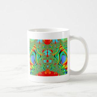 Colorful fractal skins coffee mug